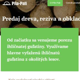 Predaj dreva a reziva Píla Pali
